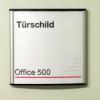 Türschild Office 500 100x100